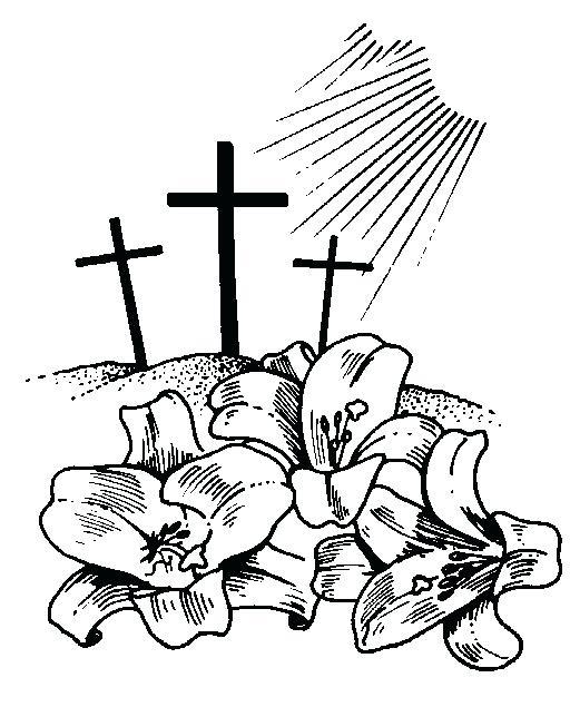 512x635 Easter Clipart Religious Horizontal Bulletin Border Christian