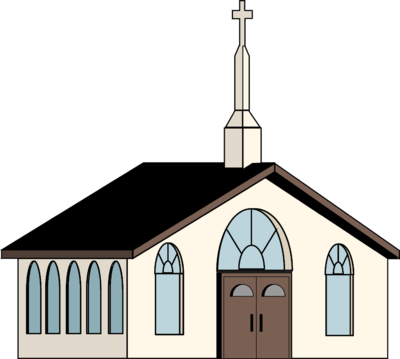 400x359 Image White Church Church Clip Art