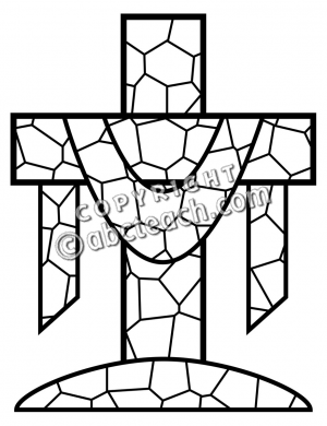 300x390 Christian Easter Black And White Clipart