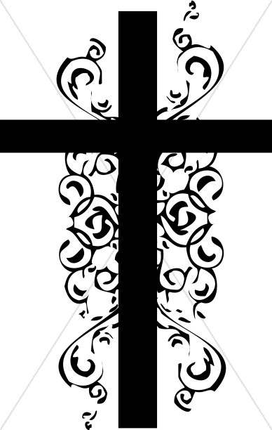 388x612 Black And White Christian Cross Clipart Cross Clipart