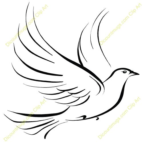 500x500 Dove Clip Art Free