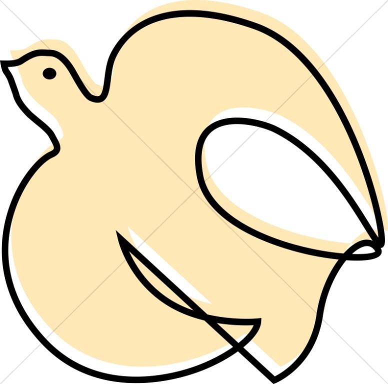 776x768 Fluttering Dove Woodcut Style Dove Clipart