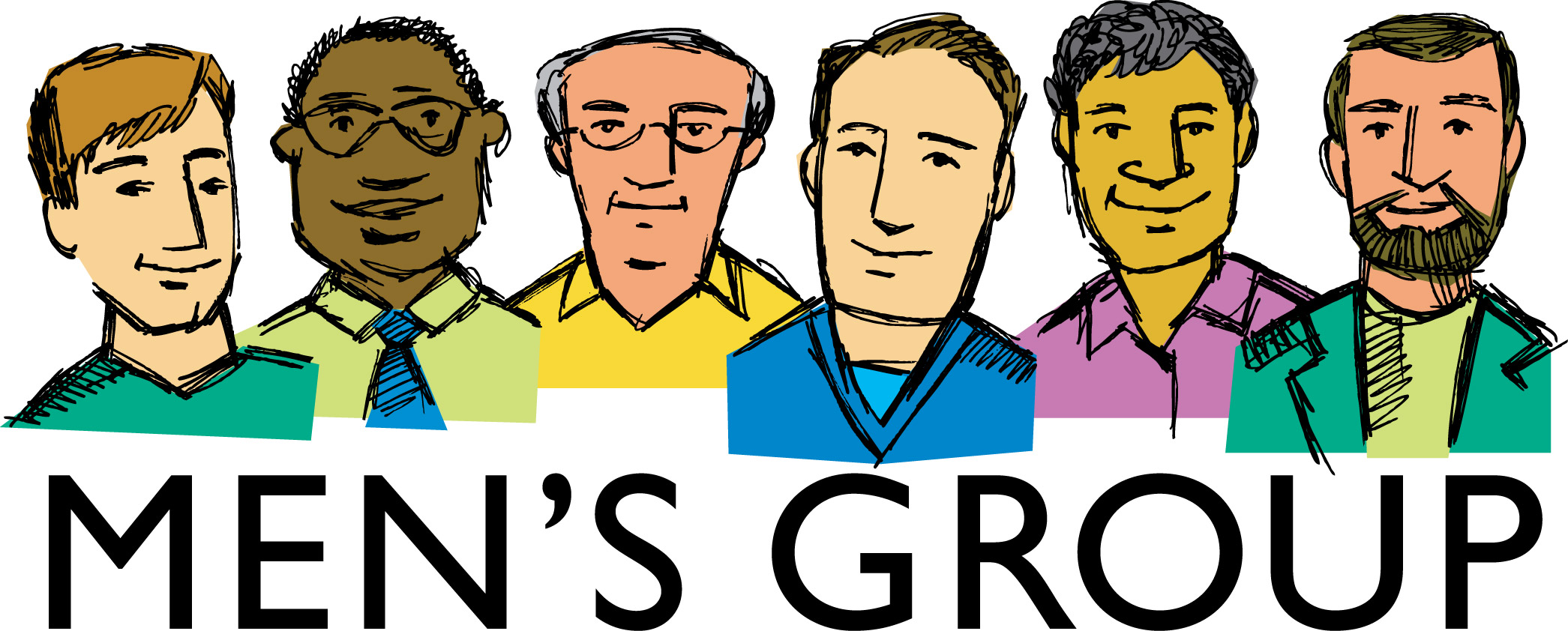 2091x842 Clip Art Group Of Men Clipart