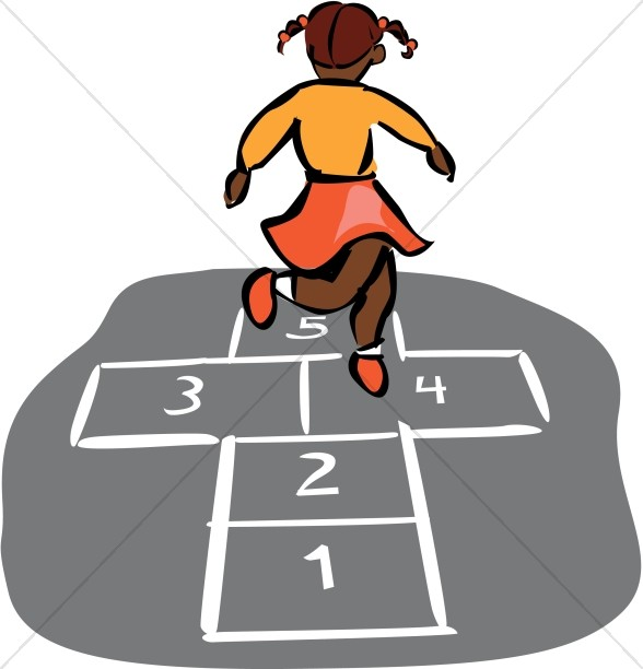 588x612 Hopscotch In Color Christian Education Clipart