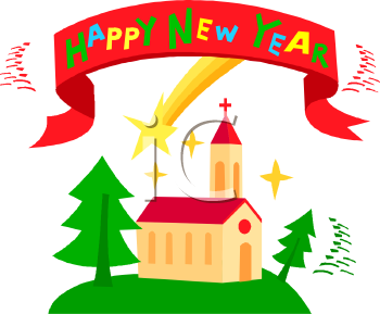 350x289 Happy New Year Christian Clipart