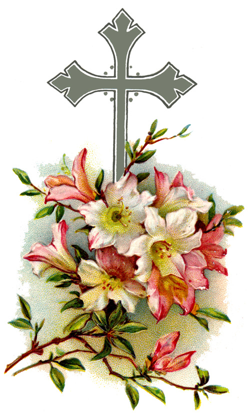 Memorial day cross. Christian funeral cliparts free