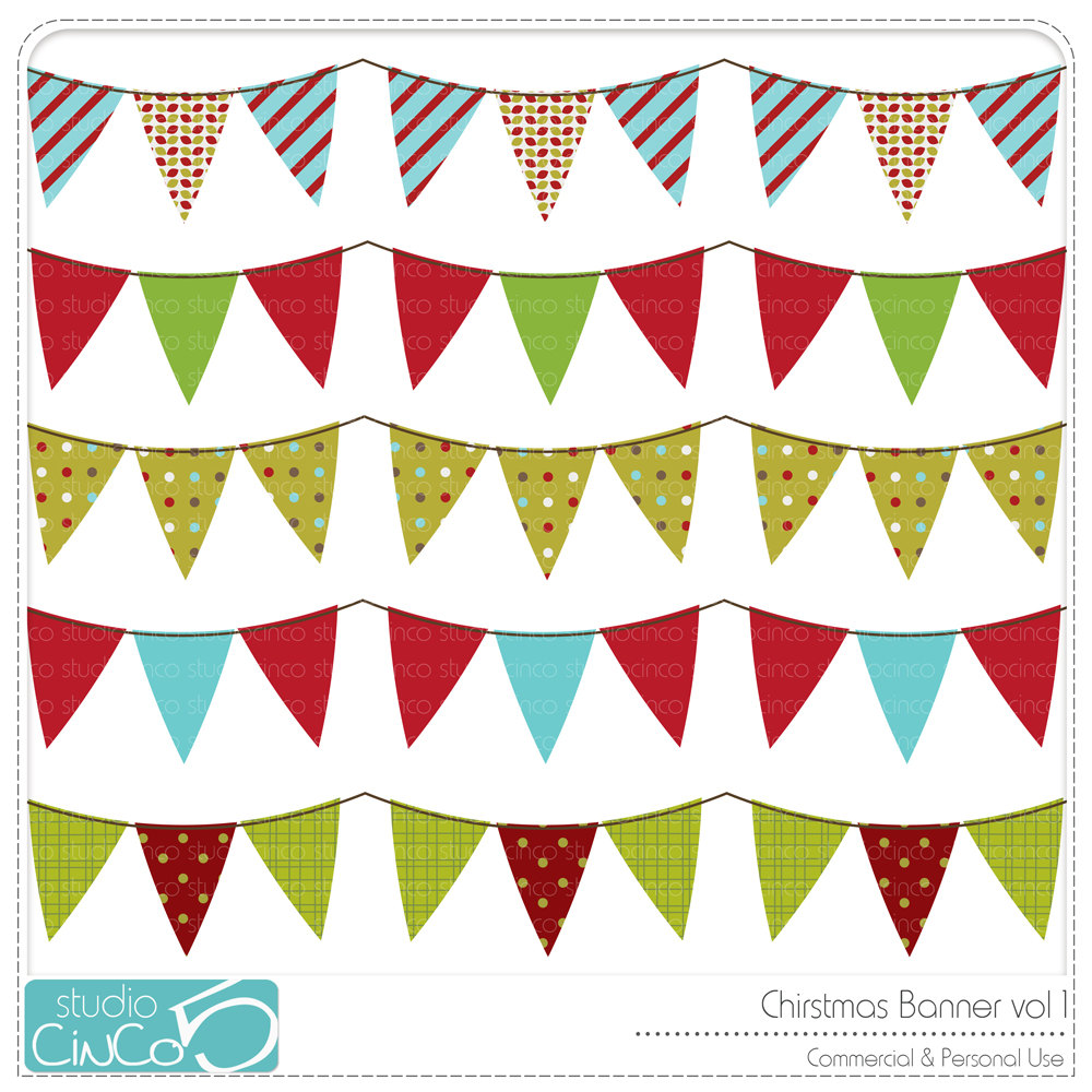 1000x1000 Merry Christmas Bunting Clipart 21