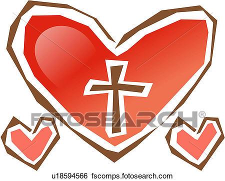 450x362 Clip Art Of Agape, Christianity, Love, Heart, Religion, Object