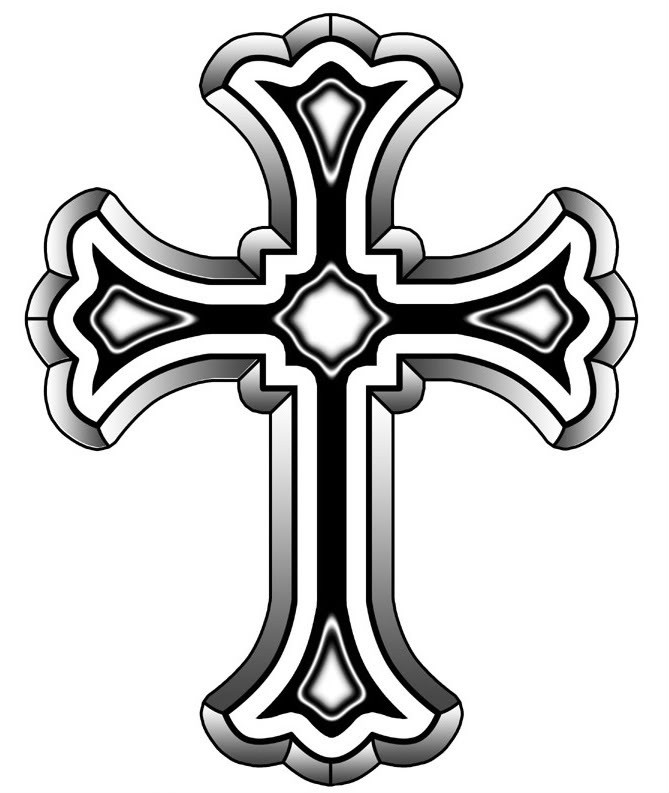 669x793 Gothc Clipart Christianity Cross