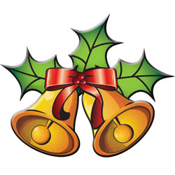 250x250 Christmas Bells Clip Art