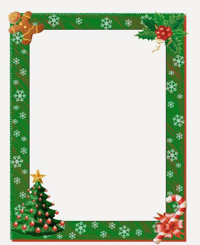 680x832 Christmas Card Borders Clip Art Free Clipart