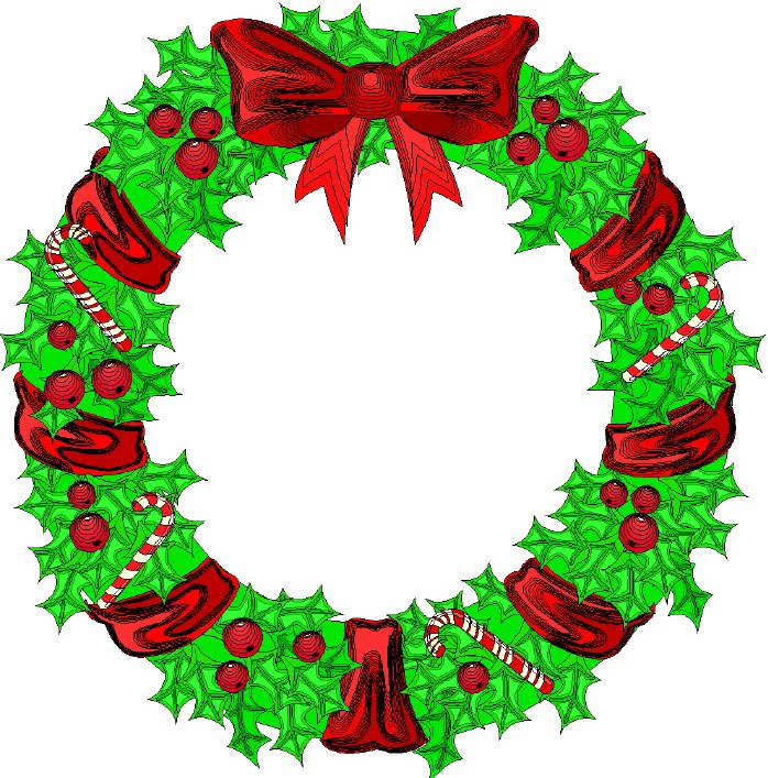 698x707 Christmas Wreath Border Clipart Kid 2