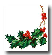220x234 Holly Border Clip Art