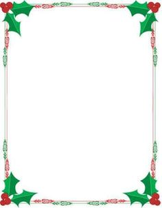236x303 Printable Christmas Border Writing Paper Open A New Page