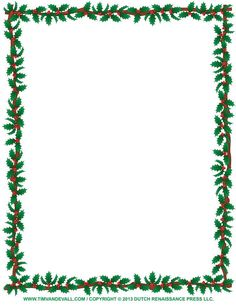 236x305 Free Printable Boarders Christmas Border