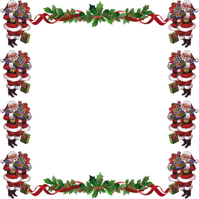 642x642 free christmas clipart borders for word
