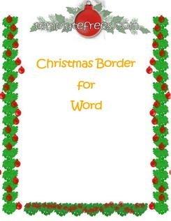 245x317 Word Borders Templates