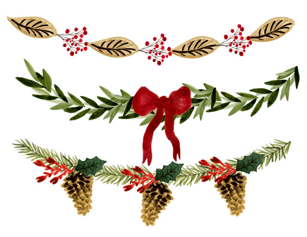 1024x791 Christmas ~ Christmas Clipart Borders Wreath Free Download