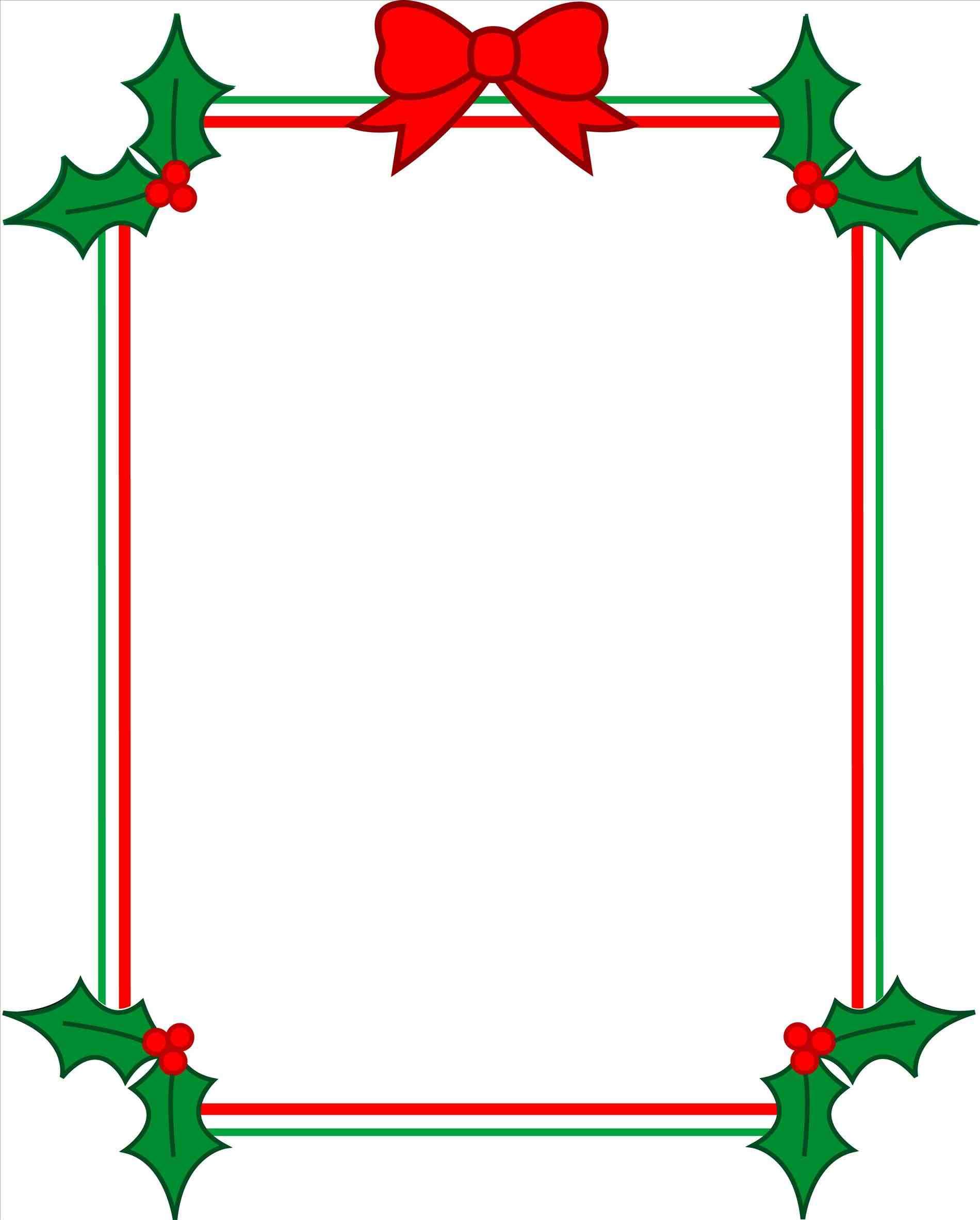 1900x2364 Clip Free Christmas Borders For Word Art Documents Clipart Panda