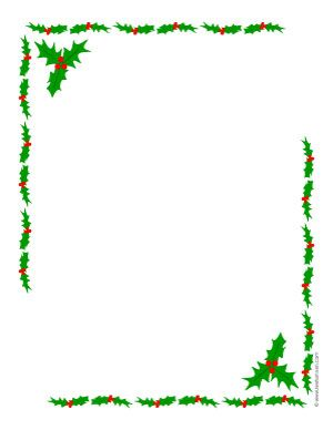 300x388 Letter Size Christmas Border My Blog