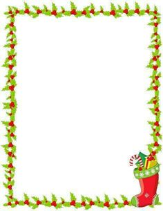 236x305 Printable Blue Christmas Border. Use The Border In Microsoft Word