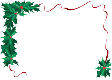 380x272 Free Christmas Clipart Borders For Word