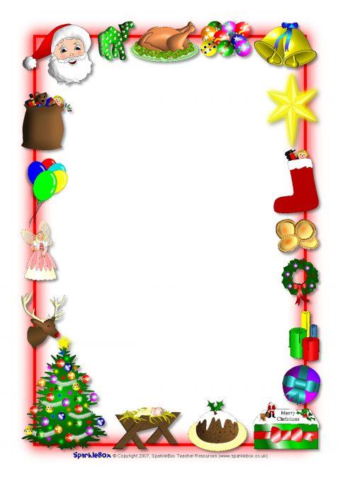 480x679 Christmas A4 Portrait Page Borders 1 (Sb1059)