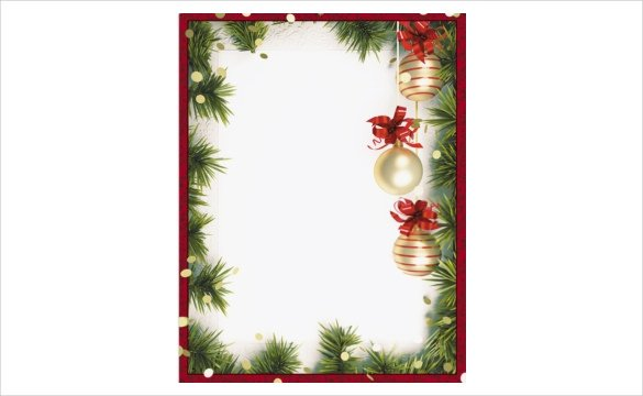 585x360 christmas border templates for word 2017 best template examples - Christmas Borders