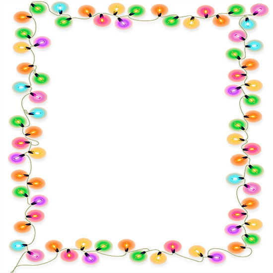 550x550 Christmas Lights Frame Clipart