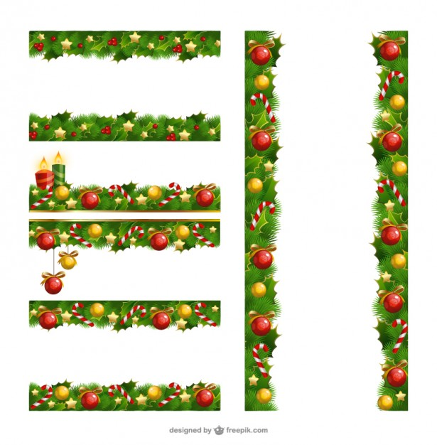 615x626 Christmas Borders Pack Vector Free Vector Download In Ai, Eps