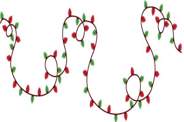 600x400 Christmas Lights Clipart Free
