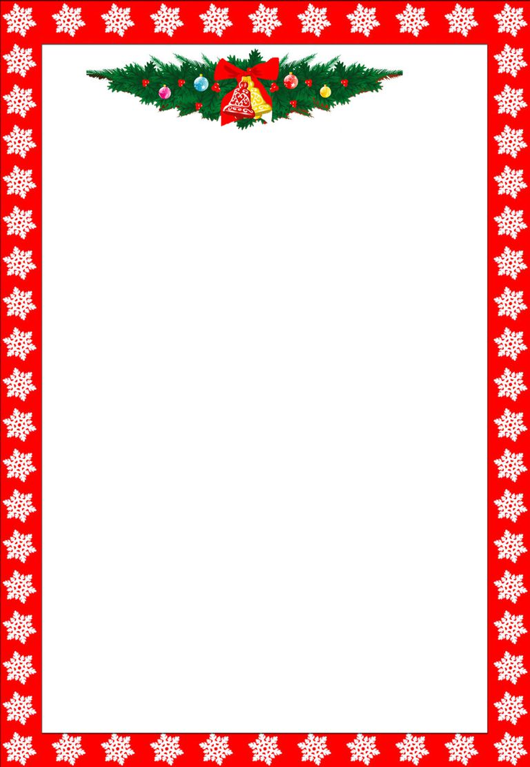 768x1111 Christmas ~ Christmasletterhead3as Free Borders And Frames