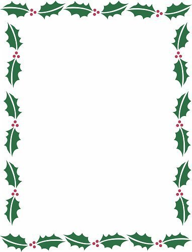 382x500 Free Christmas Border Template 2017 Business Plan Template