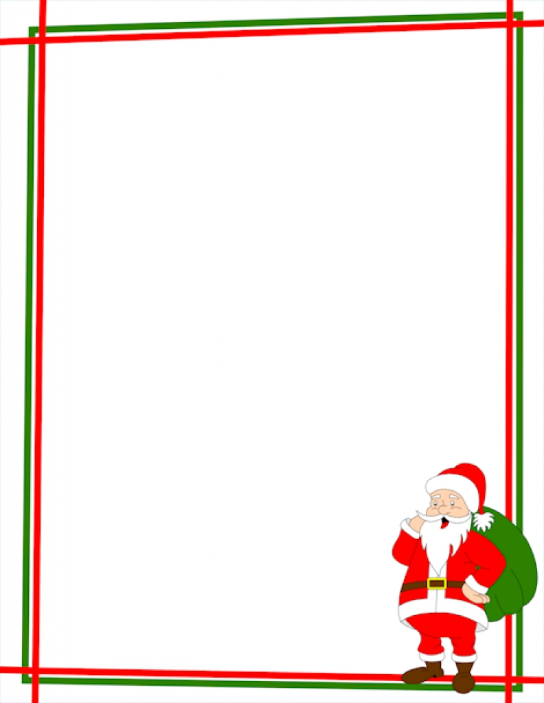 792x1024 Free Printable Boarders Christmas Border