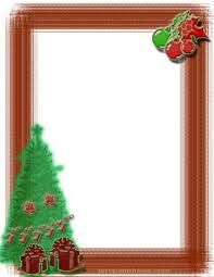 197x255 Free Printable Christmas Border With Bells, Bushes And Branches
