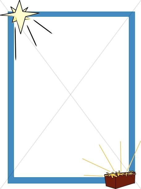 456x612 Free Christmas Border Christian Clipart