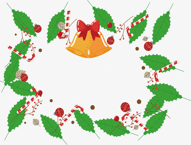 650x496 Green Leaves Christmas Frame, Vector Png, Christmas, Christmas