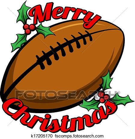 450x463 Clipart Of Football Merry Christmas K17205170
