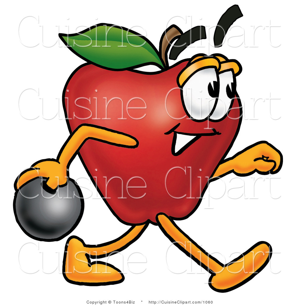 1024x1044 Cuisine Clipart Of An Athletic Red Apple Character Mascot Holding