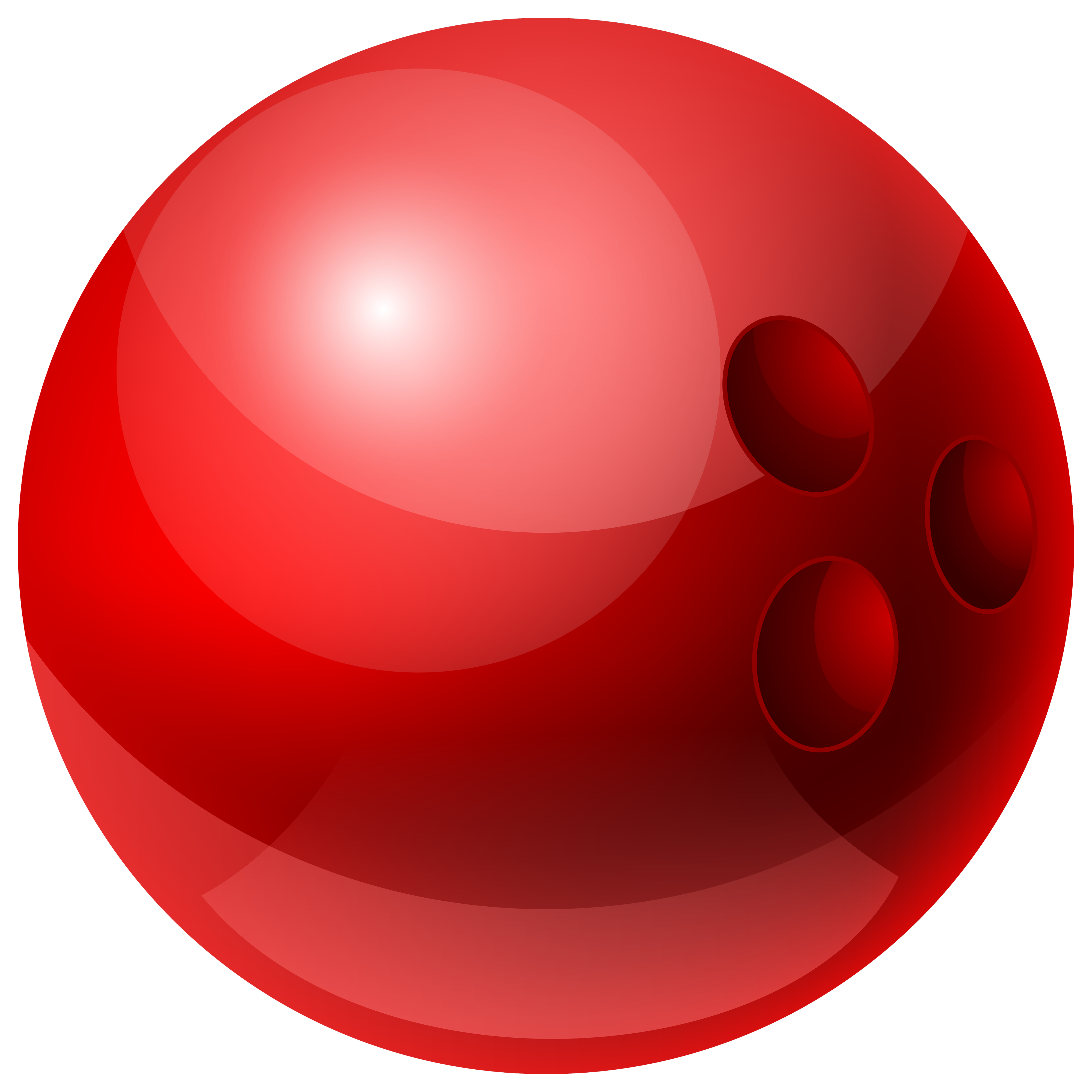 4000x4000 Red Bowling Ball Png Clipart