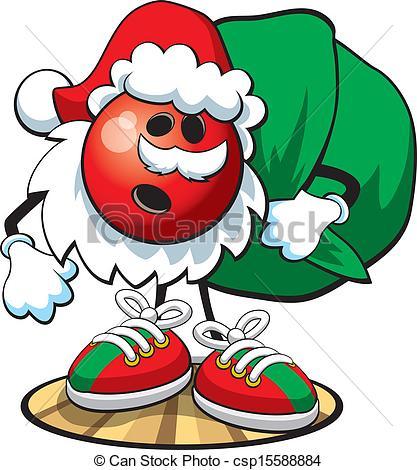 417x470 Santa Clipart Bowling