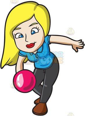 293x400 Women Playing Bowling Clipart