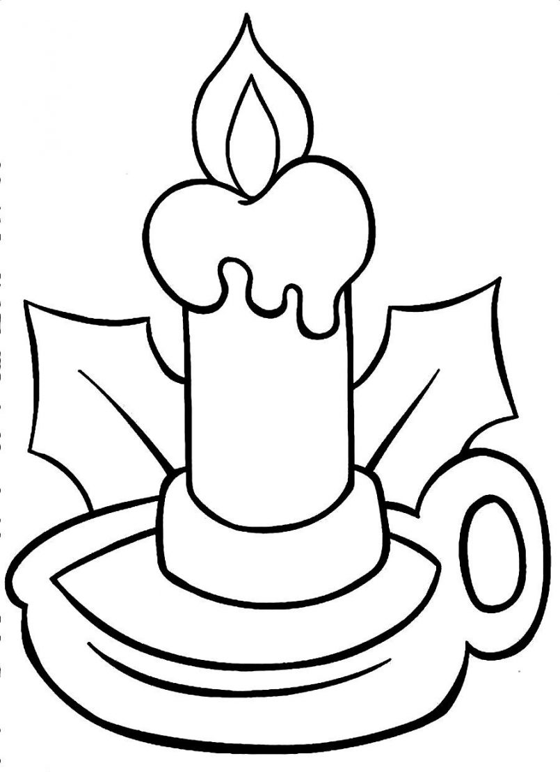 Christmas Candle Clipart Black And White Free Download