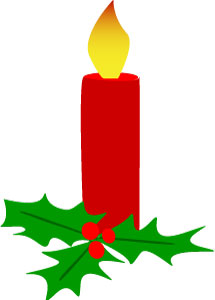 215x300 Christmas Candle Clipart