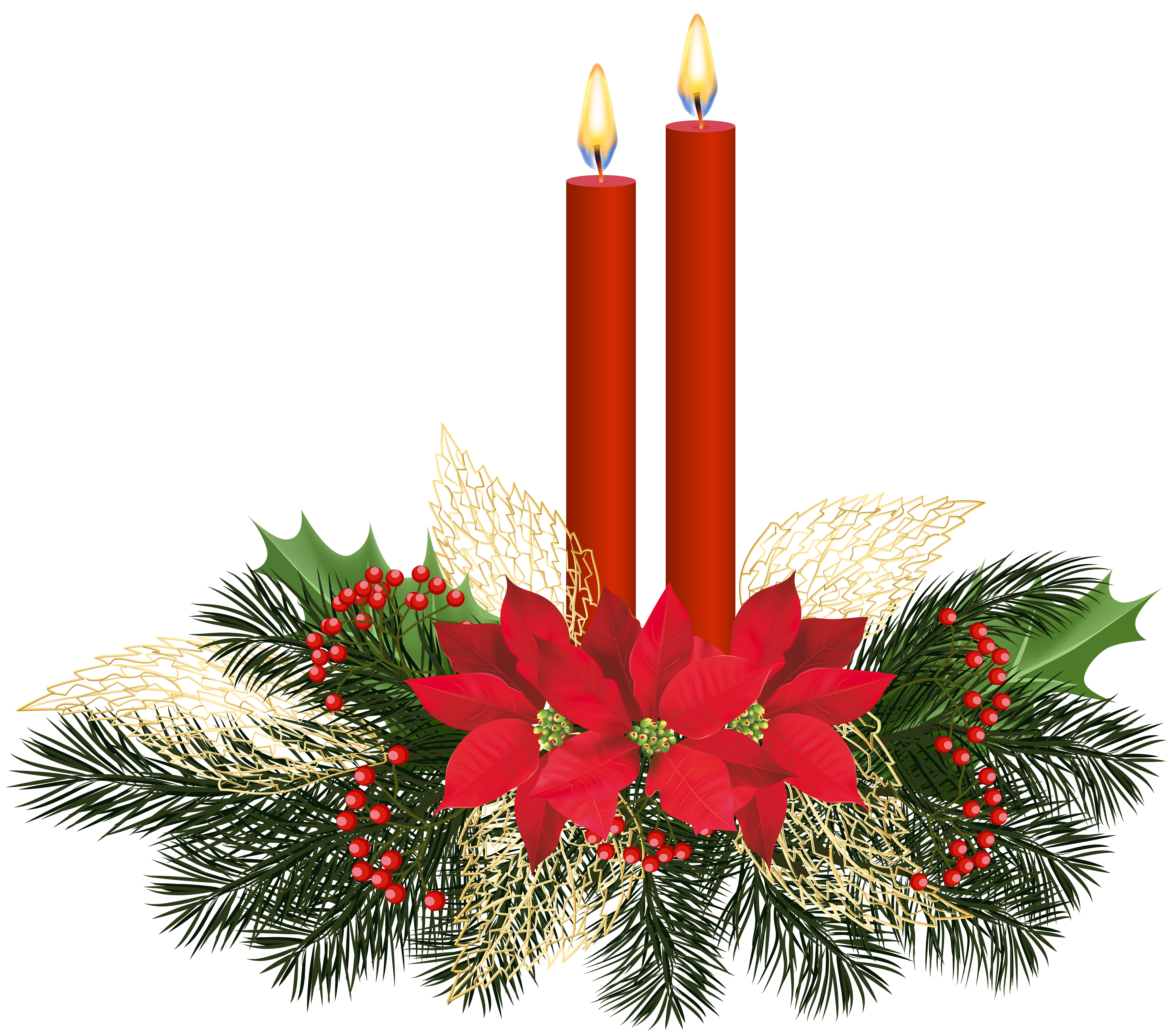 5000x4420 Christmas Candles Png Clip Artu200b Gallery Yopriceville
