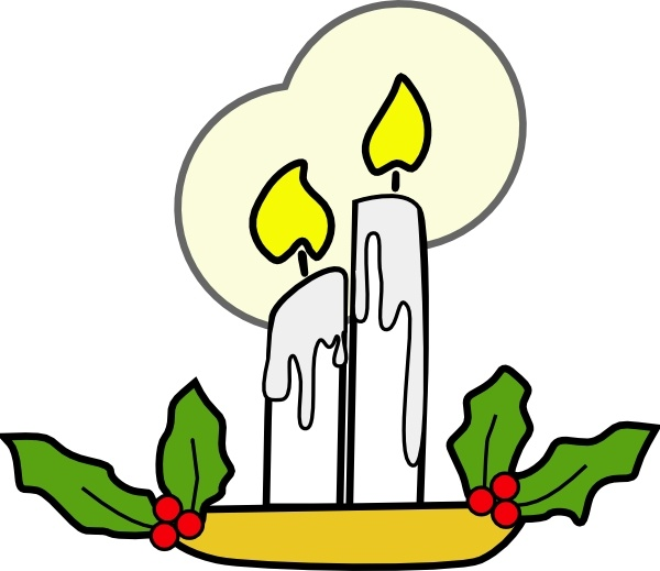 600x519 Christmas Candles Clip Art Free Vector In Open Office Drawing Svg