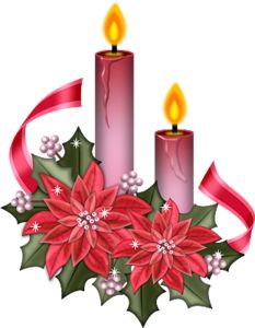 233x300 Candle Clipart Christmas Flower