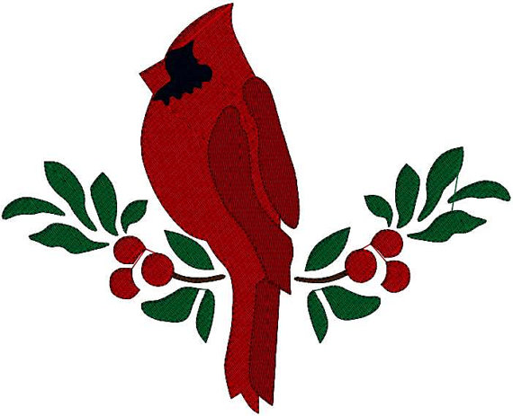 570x463 Christmas Cardinal Clipart