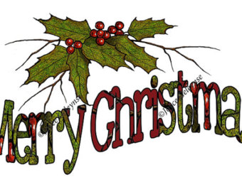 340x270 Christmas Clipart Holly Wreath With Singing Birds Musical