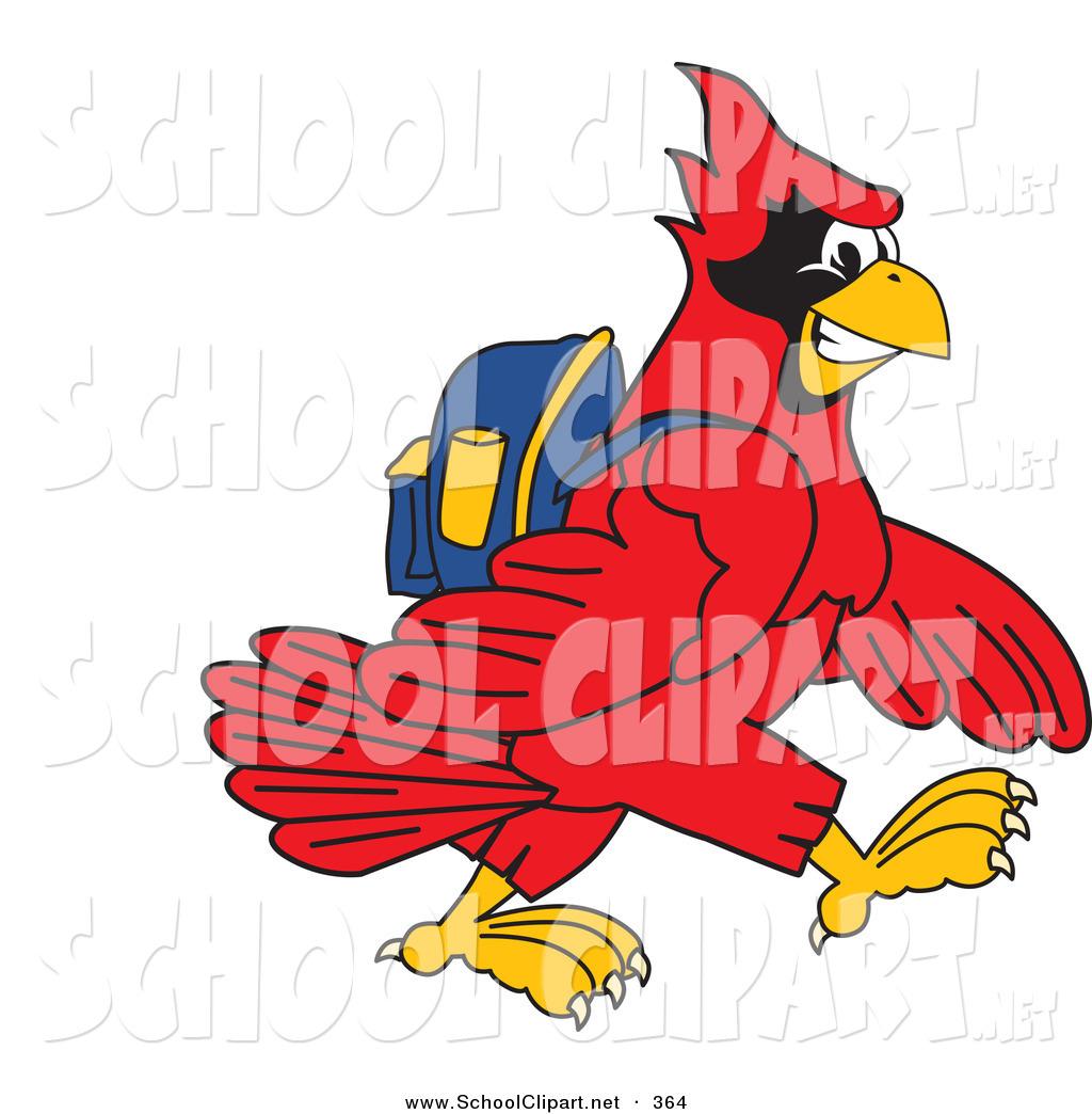 1024x1044 Clip Art Of A Red Cardinal Character School Mascot Walking